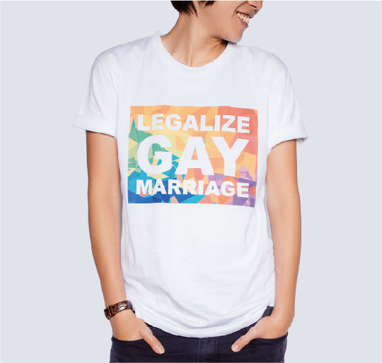 Legalize Gay Marriage 彩虹TEE